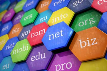Most popular domain extensions